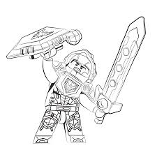 Small Picture Lego Nexo Knights ridder Clay Coloring pages for kids