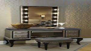 bedroom vanity with mirror and bench las makeupables