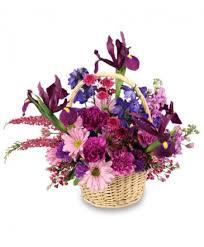 garden of graude basket of flowers
