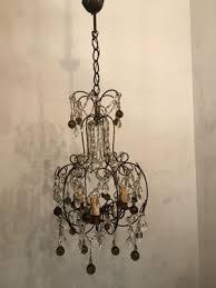 vintage italian crystal beaded murano glass chandelier 2