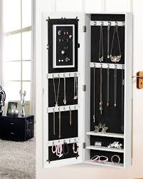 Mirrored Jewelry Cabinet Armoire Large White Mirrored Jewelry Cabinet Armoire Mirror Organizer