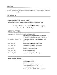Med Tech Resume Sample Med Tech Resume Med Tech Resume Medical