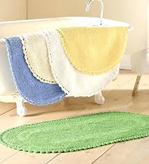 bright ideas oval bath rugs sophisticated mat rug vintage shabby cotton reversible chenille bathroom with fringe