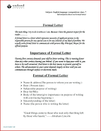 Formal Letter English Format Of Formal Letter In English Energycorridor Co