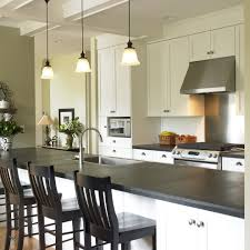 Galley Kitchens With Island Honed Slate Tile Kitchen Traditional With Galley Kitchen Island
