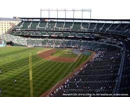 Seating Chart Camden Yards Baltimore Md Camden Yards View From Upper Outfield 376 Vivid Seats