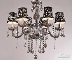 new modern smoke gray crystal chandelier pendant lamp ceiling lighting 6 lights dining chandelier chandelier for dining room from lxledlight