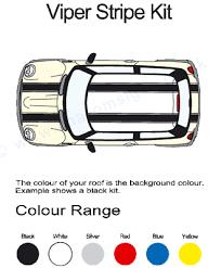 Bmw Mini Colour Chart Bmw Mini Roof Bonnet Boot Viper Graphics Decals Kit Jcw