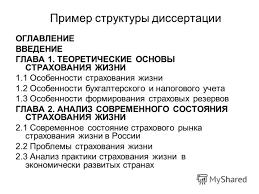 Презентация на тему Негосударственное образовательное учреждение  24 Пример структуры диссертации ОГЛАВЛЕНИЕ