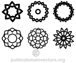 Decorative Geometric Shapes Vector Illustrator Art Vector Shapes