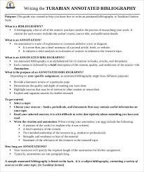 annotated bibliography templates word pdf format  turabian annotated bibliography template