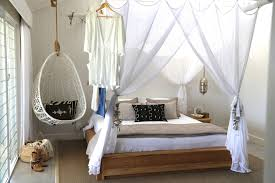bedroom and more. Amazing Hanging Chair For Bedroom Inside Large Window And Big Bed Plus White Wall More