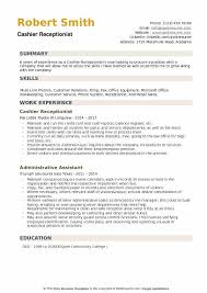 Reception Resume Cashier Receptionist Resume Samples Qwikresume