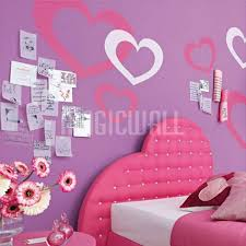 wall decals hearts princess girl wall stickers