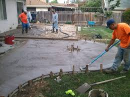 how to pour a concrete patio protecting ifso2016 com simple much lay