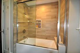 plank tile tub surround project contemporary bathroom pertaining to plans ideas accent wall pl