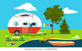 Camping Vector Scene Images, Stock Photos & Vectors | Shutterstock