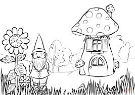 Small Picture Gnome in the Garden coloring page Free Printable Coloring Pages