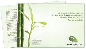 Lawn Care Brochure Half Fold Brochure Template For Lawncare Services Order Custom Half