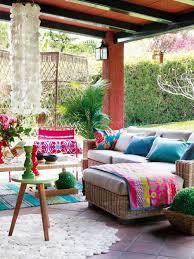 boho backyard patio capiz bohemian style furniture