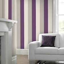 Plum Bedroom Faux Fur Trim Coat Striped Wallpaper Products And Brown