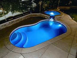 inground pools at night. Simple Night Viking Fiberglass Inground Swimming Pool Lighting 22 On Pools At Night G