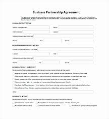 Partner Contract Sample Impressive Partnership Agreement Contract Simple Resume Examples For Jobs