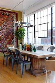 interior: Wonderful Modular Shaped Hanging Lights Hung Above Artistic Dining  Table At Traditional Dining Space
