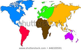 World Map Europe And Asia World Map Europe Asia North America Stock Vector Royalty Free