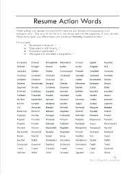 Resume Power Words List Words To Use In A Cover Letter Dew Drops