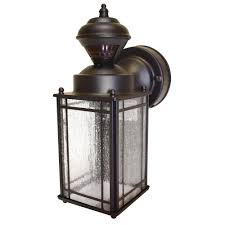 mission outdoor lighting fixtures. hampton bay shaker cove mission 150 degree outdoor oiled rubbed bronze motion-sensing lantern lighting fixtures