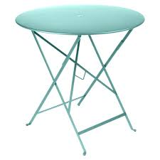 round outdoor metal table. Bistro Round Outdoor Metal Table