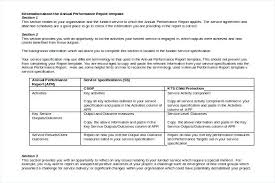 Template Report Doc Annual Free Service Specification Technical Format