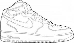 Nice Nike Shoe Coloring Page Also Coloring Pages Jordan Shoes