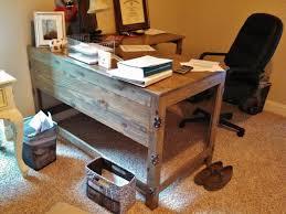Industrial Rustic Fusion Reclaimed Wood Desk Industrial Home Inside
