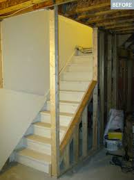 Refinishing Basement Stairs Am Dolce Vita Basement Stairs Diy To Open Them Up Basement