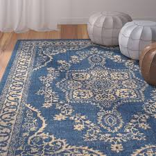 bungalow rose randhir fl blue tan area rug reviews wayfair warm and rugs regarding 15