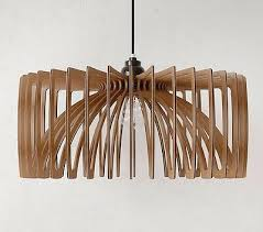 pendant light wood lamp shade lighting