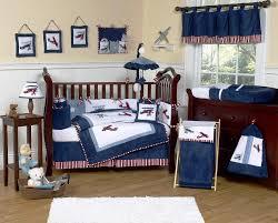 baby boy airplane crib bedding set