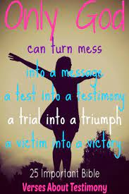 verses about testimony