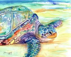 sea turtle fine art print kauai art turtles hawaiian honu paintings childrens wall art ocean sea decor animal prints beach art
