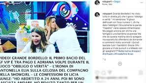 Adriana Volpe bacia Pago durante un gioco, il marito furioso ...