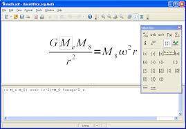 dentro de outros programas como o writer a equação é tratada como um objeto dentro do doento de texto na microsoft o concore é o equation editor