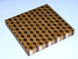 3d end grain cutting board plans. tumbling block cutting board 3d end grain plans