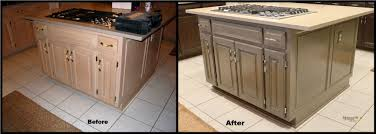 bleaching kitchen cabinets before and after cabinet designs