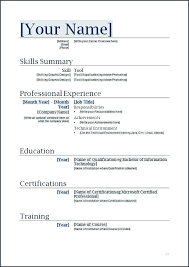 Resume Sample Word Document Resume Formats For Word Resume Template Word Download Australia