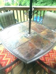 replacement glass table top glasgow outdoor furniture bistro tops custom kitchen alluring