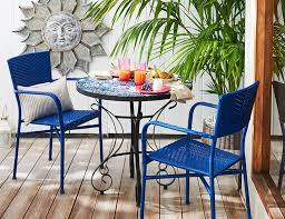 furniture for small patio. small deck furniture modern outdoor for spaces wicker blue chair with metal table pink patio