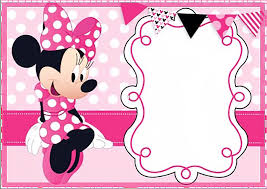 Cute Minnie Mouse Birthday Invitation Templates Free Invitation