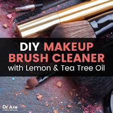 diy makeup brush cleaner with lemon and tea tree oil